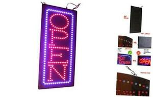 Vertical Open Sign 24 Topking Signage Led Neon Open Store Window Shop Bus