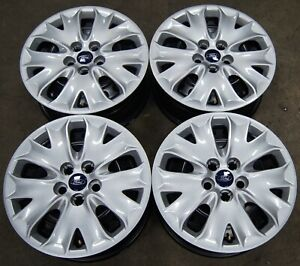 4 Takeoff Ford Fusion 16 Factory Oem Steel Wheels Rims Wheel Covers 2013 19 3956