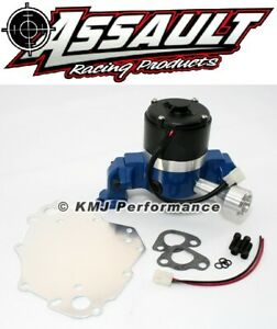 Small Block Ford 289 302 5 0l Electric High Volume Water Pump Powdercoated Blue