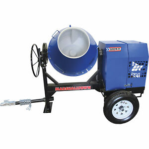Marshalltown Mix59402b 8hp Gas Concrete Mixer W poly Liner 6 Cu Ft cap