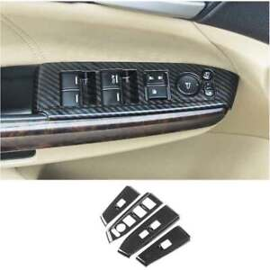 For 2008 2013 Honda Accord Crosstour Carbon Fiber Window Lift Panel Switch Cover