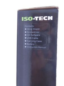 Iso tech 8khz 30db 130db Sound Level Meter Data Logging With Case tools Slm1353m