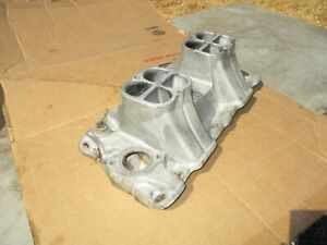Weiand 5984 High Ram Tunnel Ram Intake Manifold Bottom Only Chevy Sbc 350