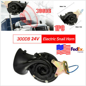 Loud 300db 24v Electric Snail Horn Air Horn Raging Sound For Car Truck Boat Usa