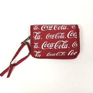 Vtg Coca Cola Wallet All Over Print Red White Ll
