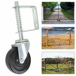 4inch Spring Loaded Rubber Wheel Gate Caster Gate Support Wood chain Link Fences