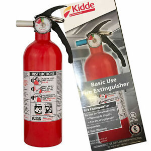 Kidde Dry Chemical Fire Extinguisher Home Car Auto Garage Kitchen Safety 5 b c