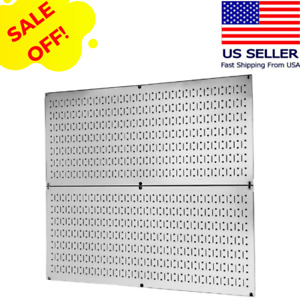 Pegboard Wall Rack Storage Organizer Board Panels Control Garage Tools Steel