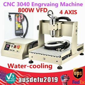 Cnc 3040 4 Axis Router Engraver Pcb Engrvaing Machine 800w Vfd controller Usa