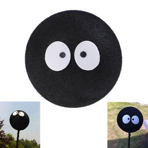 Black Face Coal Briquettes Ball Car Antenna Pen Topper Aerial Ball Decor Toy Fn