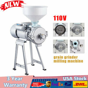 2200w Electric Grinder Machine Corn Grain Wheat Cereal Feed Wet Dry Mill funnel