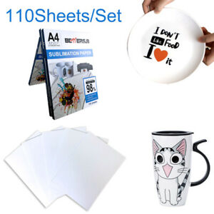 110pcs A4 Dye Heat Sublimation Paper For Diy Mugs Plate Polyester Cotton T shirt
