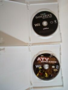 Nintendo Wii Game  ATV Quad Kings (game only) & DANGEROUS HUNTS 2009 DISC ONLY'