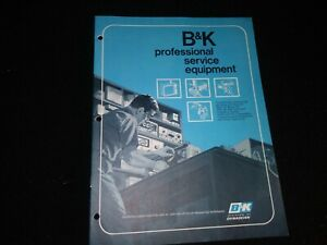 Vintage B k Dynascan Service Test Equipment Catalog 14pgs Tube Generator Analyst