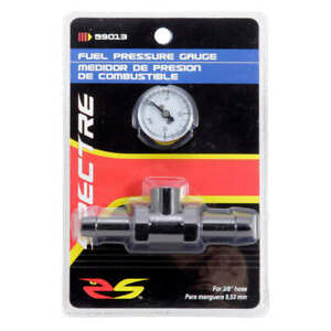 Spectre 59013 Fuel Gauge With 3 8 Inline T Mount For Fuel Line Kit 0 15 Psi