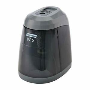View Tons Japan Electric Pencil Sharpener Battery powered Bv 6 Black