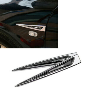 For Honda Accord 2008 2013 Abs Abs Chrome Fender Side Air Outlet Cover Trim 2pcs