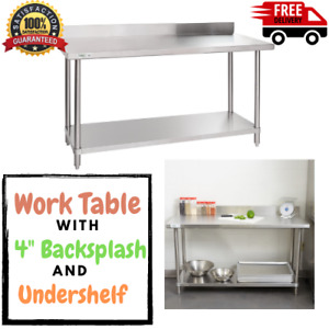 Heavy Duty 24 X 60 All Stainless Steel Work Prep Commercial Table 16 Gauge Nsf