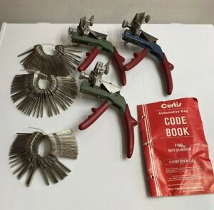 Curtis Model 15 Key Cutter Key Clipper Punch General Motors 6 Cut Gm1 Cam Set