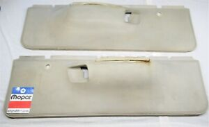 1974 74 Dodge Charger Satellite Road Runner Lower Front Door Panels Parchment