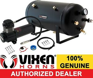 5 Gal Air Tank 200 Psi Compressor Onboard System Kit For Train Horn 12v Vxo8350b