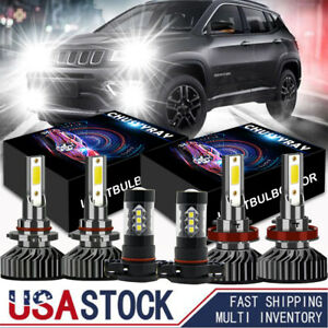 For Jeep Grand Cherokee 2011 2012 2013 Combo Led Headlight Fog Light Bulbs Kit