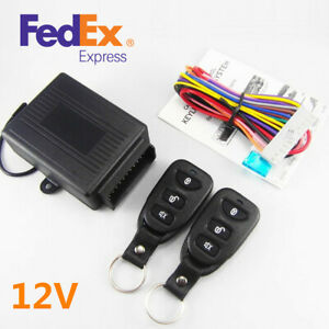 Car Keyless Entry Remote Controllers X2 Door Lock Security Alarm System Us Stock