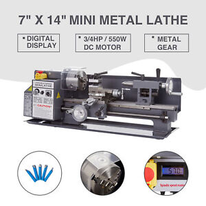 New 7 X 14 550w 3 4hp Mini Metal Lathe Metal Gear Digital Display Metalworking