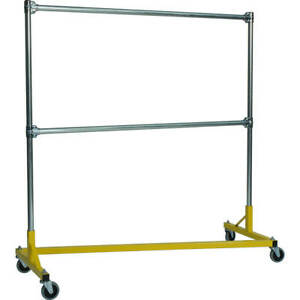 Z rack Heavy Duty Clothes Rack 60 L X 60 Uprights Double Rail Yellow 260602y
