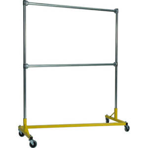 Z rack Laundry Room Clothes Rack 60 L X 72 Uprights Double Rail Yellow