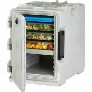Cambro S series Insulated Food Carrier Hot Box Built in Gasket Speckled Gray