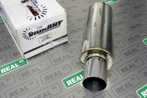 Vibrant Tpv Round Muffler 23 Long With 4 Round Straight Cut Tip 2 5 Inlet