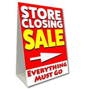 Store Closing Sale Economy A frame Sign