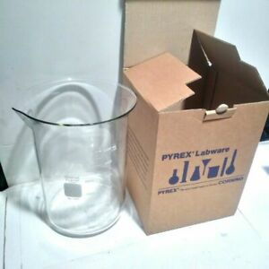 Corning Pyrex Glass 4000ml 4l Low Form Dual Scale Griffin Beaker Spout 1000 4l