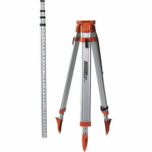 Johnson Level Tool Universal Tripod grade Rod Kit 40 6350