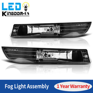 2pcs For 2000 2005 Chevy Impala Fog Lights Driving Lamps Clear Lens Left Right