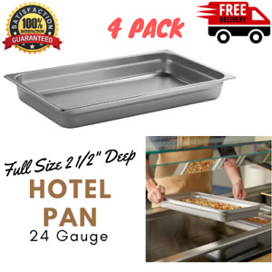 4 Full Size 2 1 2 Deep Stainless Steel Chafing Dish Steam Table Buffet Pan New