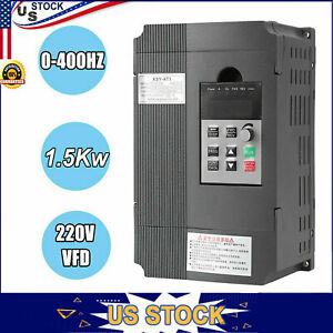 Ac 220v 1 5kw 3hp Single Phase Variable Frequency Drive Vfd Inverter Converter