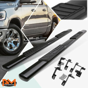 For 19 20 Ram 1500 Truck Crew Cab Oval 5 Side Step Nerf Bar Running Board Black