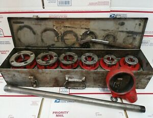 Ridgid 12r Die Head Ratcheting Threader Set 1 2 2 With Case