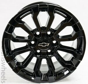Chevy Silverado Suburban Gloss Black Replica At4 18 Wheels Rims Lugs Freeship