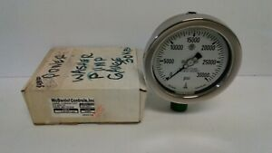 New Old Stock Mcdaniel Controls 0 30000 Psi 1 2 npt Pressure Gauge G30k