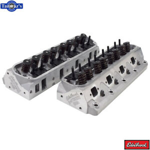 Edelbrock Aluminum Engine Cylinder Heads 202 For Ford E Street Small Block Fits Ford