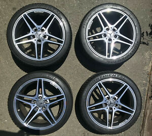 Genuine Mercedes benz Amg 18 Twin spoke Light alloy Wheels With Tires