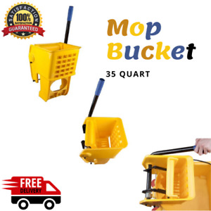Yellow Replacement Mop Bucket Side Press Wringer For 35 Qt Mop Bucket