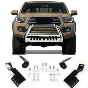 Front Bumper Bull Bar Grille Guard Skid Plate For 99 06 Toyota Tundra sequoia