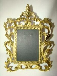 Vintage Gold Metal Ornate Rococo Picture Frame