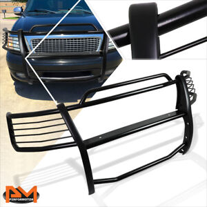 For 99 03 Ford F150 Expedition 2wd Front Bumper Brush Grille Guard Coated Black
