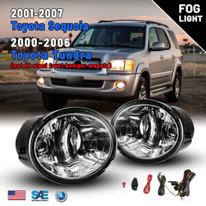 For 00 06 Toyota Tundra 01 07 Sequoia Fog Lights Driving Lamps Wring Kit Switch