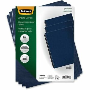 Fellowes Executive Presentation Covers Oversize Navy 50 Pack Navy 50